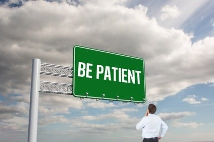 be patient with recovery
