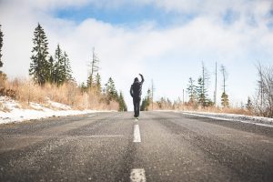 Man being on the road to being free of anxiety