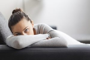 Depressed and stressed woman
