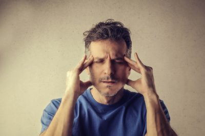 man struggling with anxiety