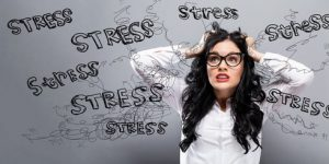 Woman stressing