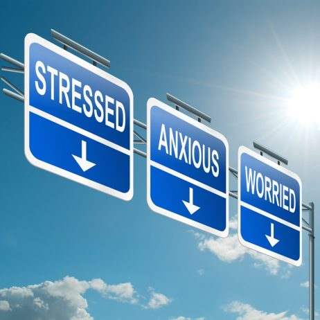 Stressed, anxious and worried signs