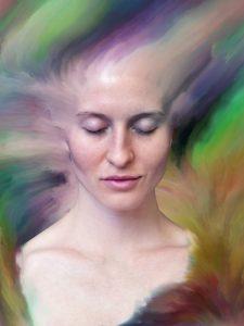 Woman going through depersonalisation