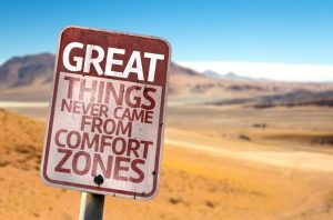 moving out of comfort zones